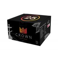 Уголь кокосовый Crown 25мм 72 уголька