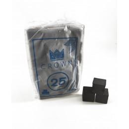 Уголь кокосовый Crown Horeca 25мм 72 уголька без коробки