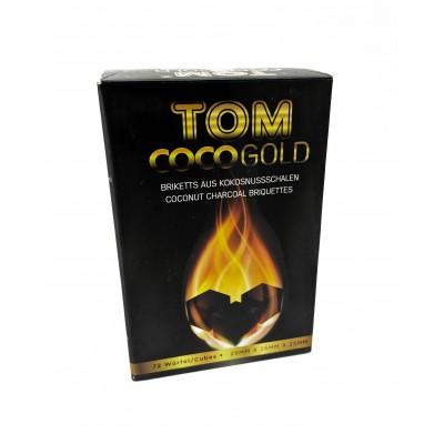 Вугілля кокосове для кальяну Tom Coco Gold 72 кубика